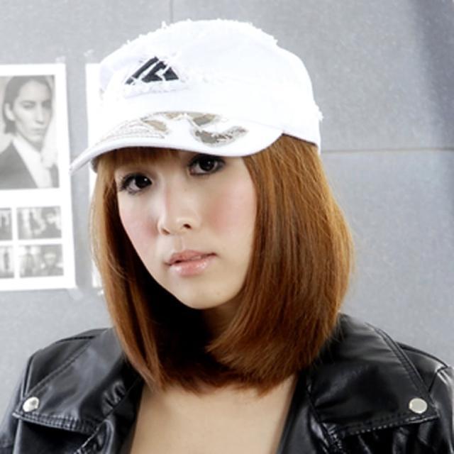 【Lady c.c.】日系簡易拼貼造型軍帽(白)