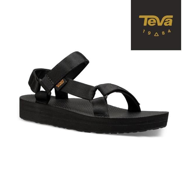 【TEVA】女 Original Midform 經典織帶中厚底涼鞋(黑-TV1090969BLK)