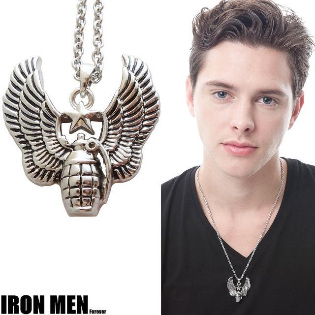 【Iron Men】烽火之翼˙珠寶白鋼項鍊