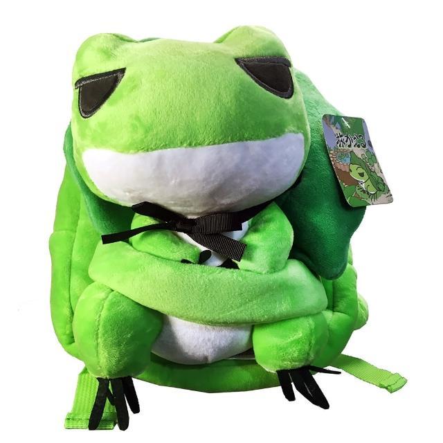 【GCT玩具嚴選】日本青蛙絨毛雙肩背包(旅行青蛙 背包 旅行青蛙背包 旅行蛙小背包 青蛙包 旅蛙)