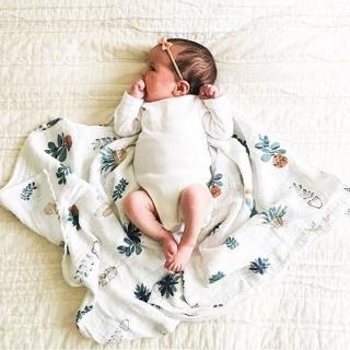 【荷蘭Muslin tree】嬰兒紗布包巾蓋被雙層手繪竹纖維浴巾(共16款)