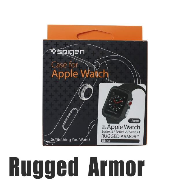 【Spigen】Rugged Armor Apple Watch Series1/2/3代專用運動型防刮保護殼(42mm)