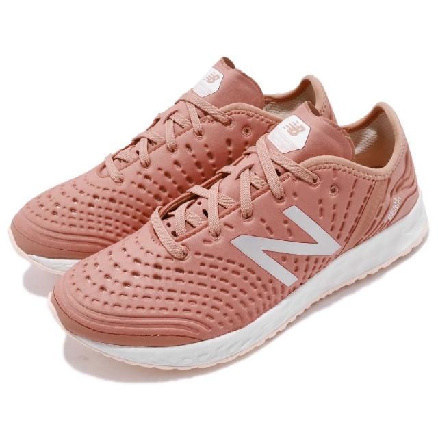 【NEW BALANCE】慢跑鞋 WXCRSPR D Wide 女鞋 纽巴伦 宽楦 跑鞋 跑步 路跑 轻量 粉 白(WXCRSPRD)
