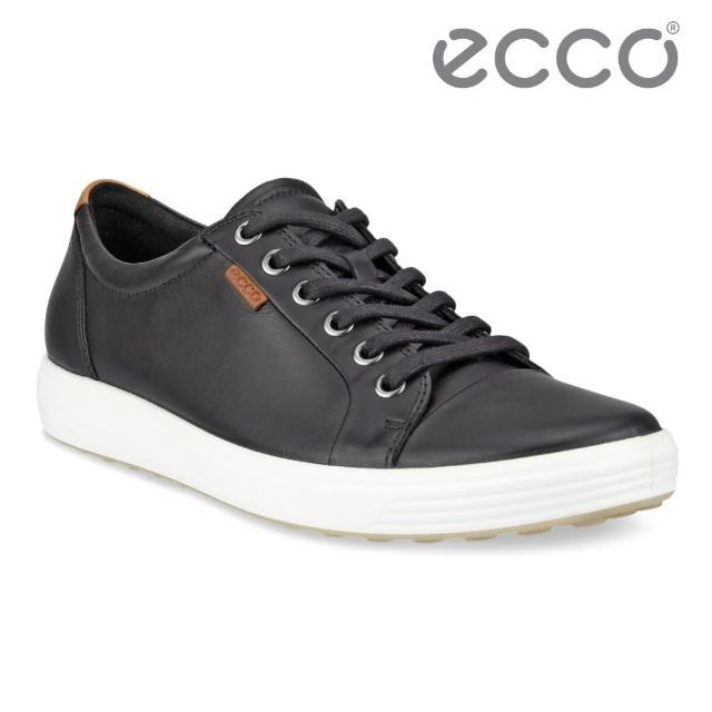 【ecco】SOFT 7 LADIES 經典輕巧休閒鞋(黑 43000301001)