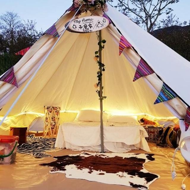 【May Shop】400x400 民族風印地安帳 蒙古包鐘形帳篷