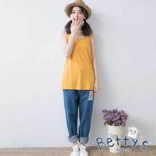 【betty's 貝蒂思】日系拼布寬鬆牛仔褲(牛仔藍)