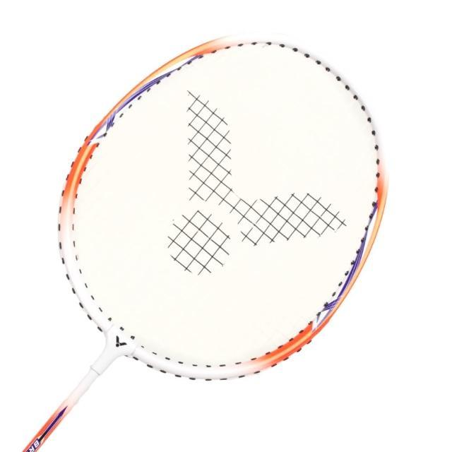 【VICTOR】亮劍穿線拍-羽球 羽毛球拍 訓練 勝利 橘白(BRS-1833)