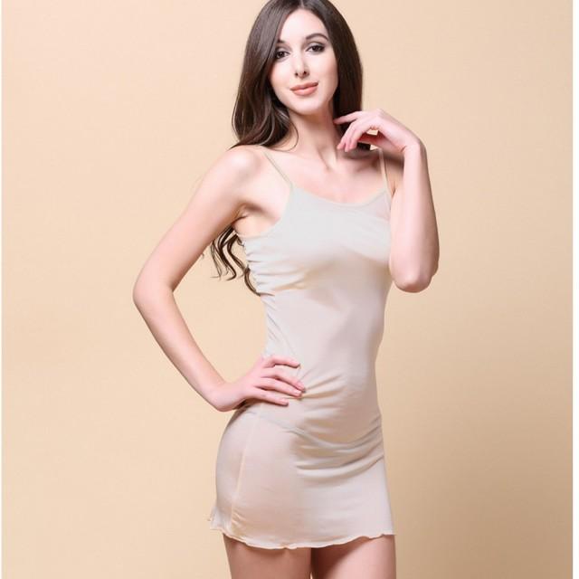 【BRIGA HS5301】BRIGA HS5301設計師款吊帶長裙真絲睡衣睡裙女家居服打底襯裙(HS5301)