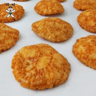 【旺旺】無聊派大仙貝酥(155g/包/米果米餅 經典熱銷零食 全素非基改醬油香脆點心)