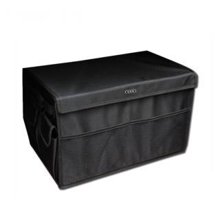 【牛津布高質感】黑色可折疊式汽車收納箱 車用置物箱 家庭收納箱