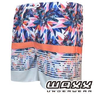 【WAXX】熱浪系列-花花世界快乾型男海灘褲(15英吋)