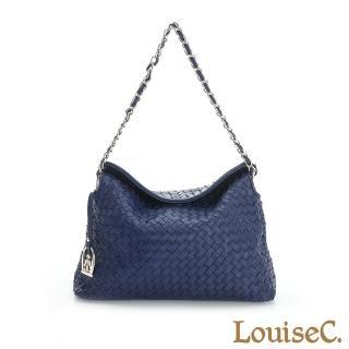 【LouiseC.】羊皮手工編織典雅小包-藍色(05L05-0030A09)