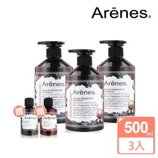 【Arenes】能量黑曜石舒活洗髮露超值組(黑曜石洗500mlx3+孔雀石沐60ml+玫瑰石沐60ml)