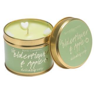 【Bomb Cosmetics】Elderflower & Apple Tinned Candle 接骨木和蘋果(香氛蠟燭)