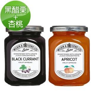【Tiptree】無蔗糖果醬A組(黑醋栗X1+杏桃X1)