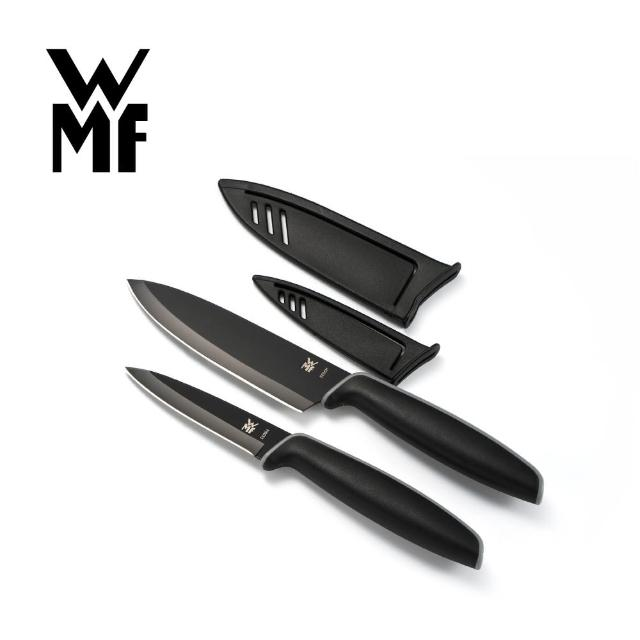 【WMF】Touch不鏽鋼雙刀組附刀套 9cm/13cm(一大一小2入組)