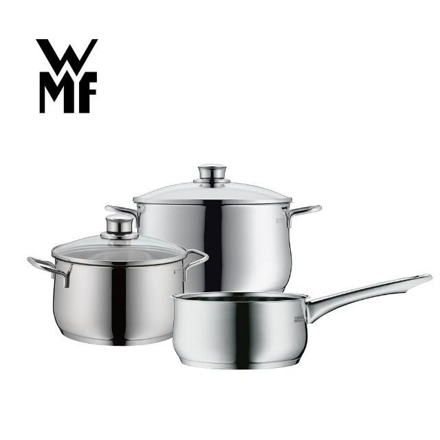 【WMF】DIADEM PLUS 鍋具三件組(高身湯鍋含蓋20cm+高身湯鍋含蓋24cm+單手鍋16cm)