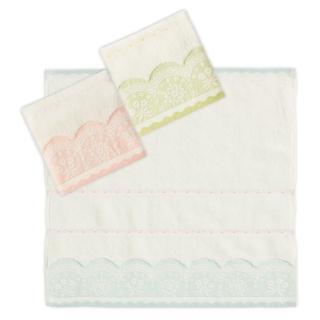 【Gemini 雙星】白紗無捻蕾絲緞方巾(蓬鬆輕盈吸水舒適親膚)