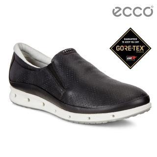 【ecco】COOL 360度環繞防水休閒運動鞋(黑 83134301001)