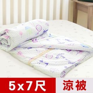 【米夢家居】原創夢想家園-台灣製造-100%精梳純棉雙面涼被(5*7尺-白日夢)