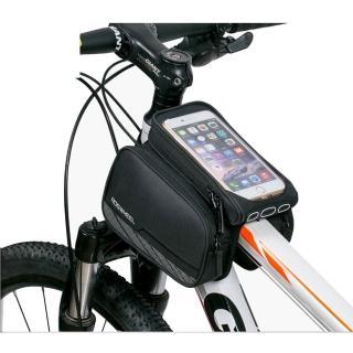 【PUSH!】第二代5.7吋手機馬鞍型自行車前置物袋手機袋上管袋車前包工具袋(A63)