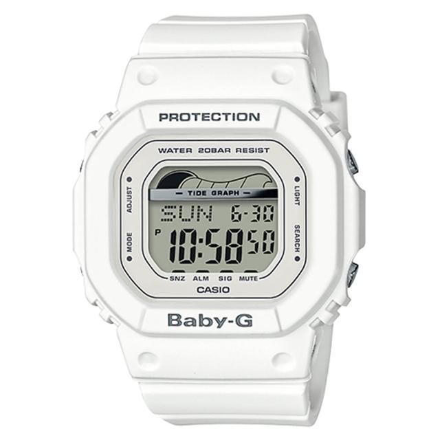 【CASIO 卡西歐】BABY-G 夏日海洋經典復刻運動腕錶-白(BLX-560-7)