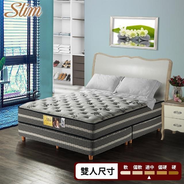 【SLIM】加厚紓壓型 獨立筒床墊-雙人5尺(CoolMax涼感紗/透氣強化/針織布)