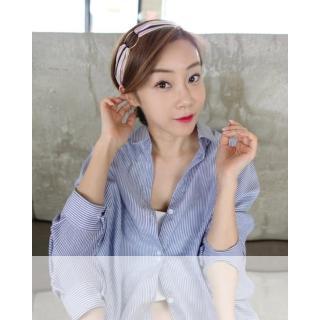 【梨花HaNA】韓國春日靜好撞色條紋圈圈裝飾髮帶