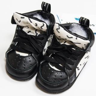 【shooshoos】安全無毒真皮健康手工學步鞋/童鞋_ 個性黑白_SS1033953(公司貨)