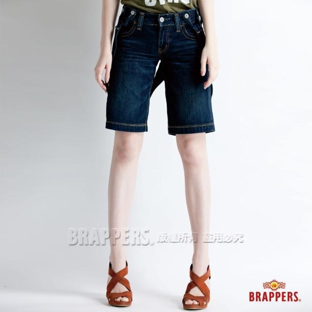 【BRAPPERS】女款 吊帶褲系列-吊帶五分褲(深藍)