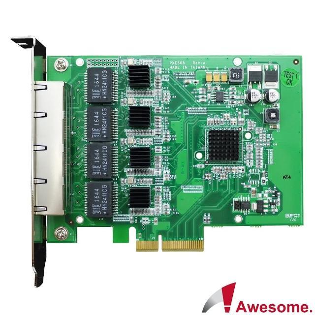 【Awesome 和順】伺服器級四埠GigaLAN網路卡(AWD-PXE608)