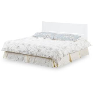 【時尚屋】特里松木烤白5尺雙人床-不含床頭櫃-床墊 G18-068-2+031-2(免運費 免組裝 臥室系列)