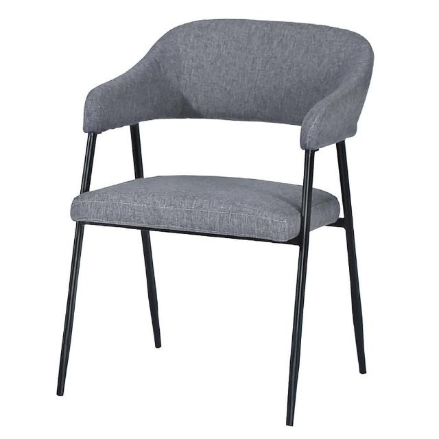 【AS】雷克斯灰色休閒椅-52x48x78cm