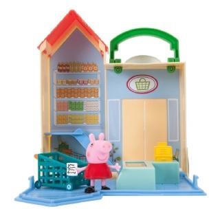 【Peppa Pig 粉紅豬】可愛商店情境組-雜貨店款(PE93680)