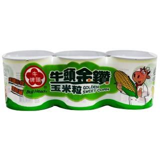 【Buffalo 牛頭牌】金鑽玉米粒340g*3