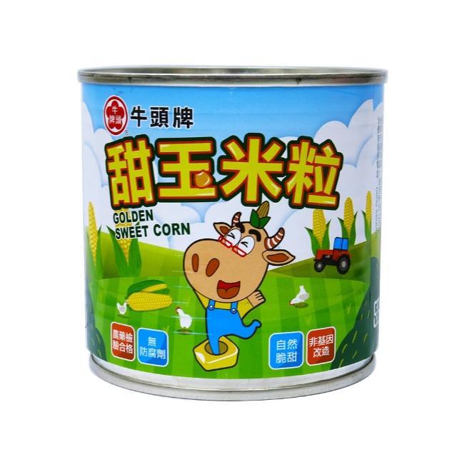【Buffalo 牛頭牌】甜玉米粒340g易開