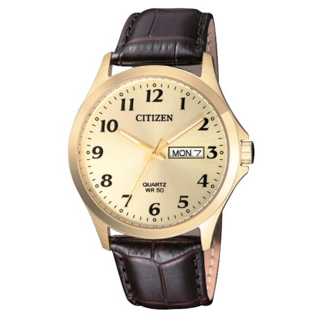【CITIZEN 星辰】光動能晶鑽指針女錶 不鏽鋼錶帶 藍寶石玻璃 施華洛世奇水晶 防水50米(BF5002-05P)