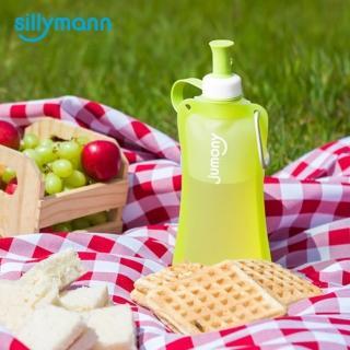 【韓國sillymann】100%簡約便攜捲式鉑金矽膠水瓶-550ml(蘋果綠)