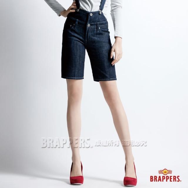 【BRAPPERS】女款 女吊帶系列-合身吊帶短褲(水洗藍)
