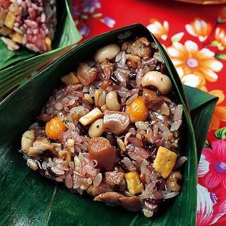 【鮮食家】花東粽穀 十穀元氣粽-全素(145g*5顆/包)