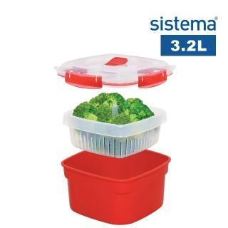 【SISTEMA】紐西蘭進口微波系列方型微波盒3.2L