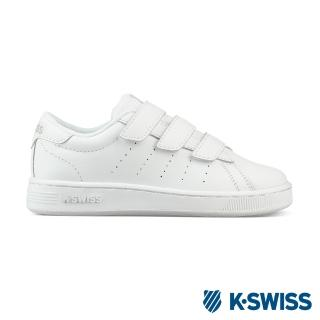 【K-SWISS】Clean Court III Strap休閒運動鞋-童-白(55852-181)