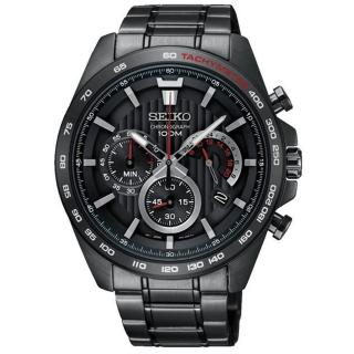 【SEIKO 精工】Criteria 極速時尚三眼計時腕錶-黑(8T63-00G0SD/SSB311P1)