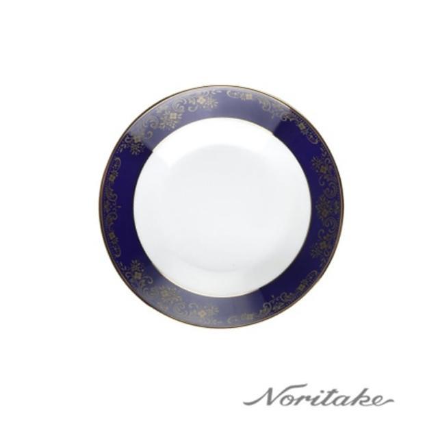 【NORITAKE】藍色樂章點心盤14cm(日本皇室御用瓷器)