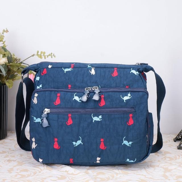 【VIVI SECRET】淘氣小貓多層收納斜背包(共2色)