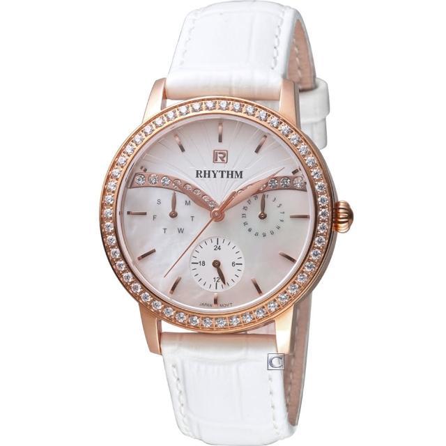【RHYTHM 麗聲】晴空晶鑽時尚錶(F1401L02)