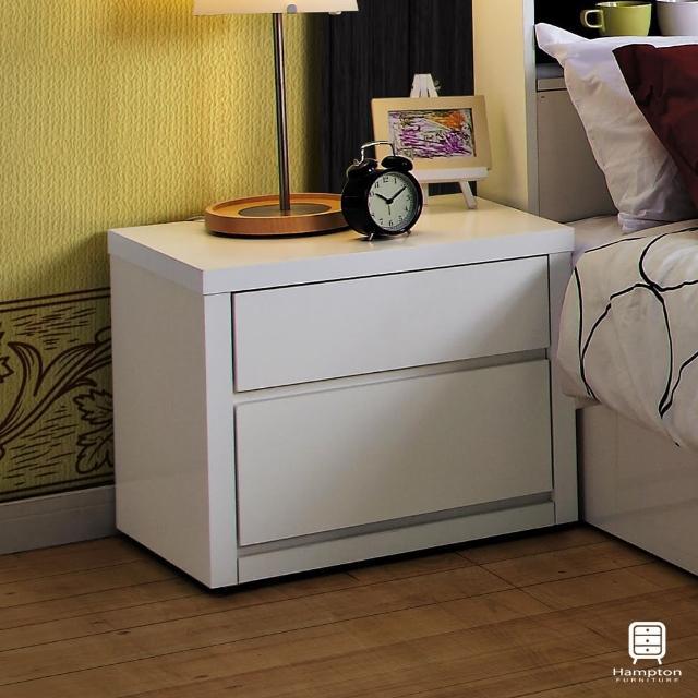 【Hampton 漢妮】溫斯敦系列床頭櫃(儲櫃/置物櫃/櫃子/收納櫃/抽屜櫃/床頭櫃)