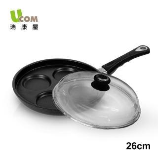 【UCOM益康屋】德國AMT黑魔法2cm甜甜圈/煎蛋不沾鍋(含蓋)