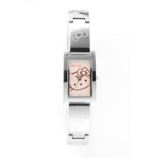 【HELLO KITTY】凱蒂貓秀氣質感流行手錶(銀/粉紅 LK679LWPI)