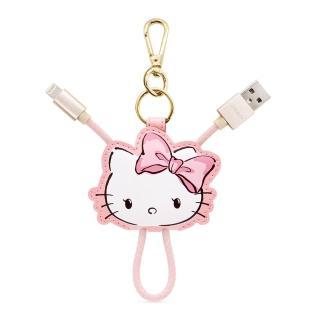【GARMMA】Hello Kitty Apple Lightning皮革吊飾傳輸線(甜美款)